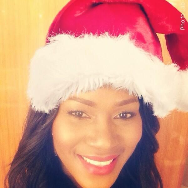 Steph in Christmas Hat