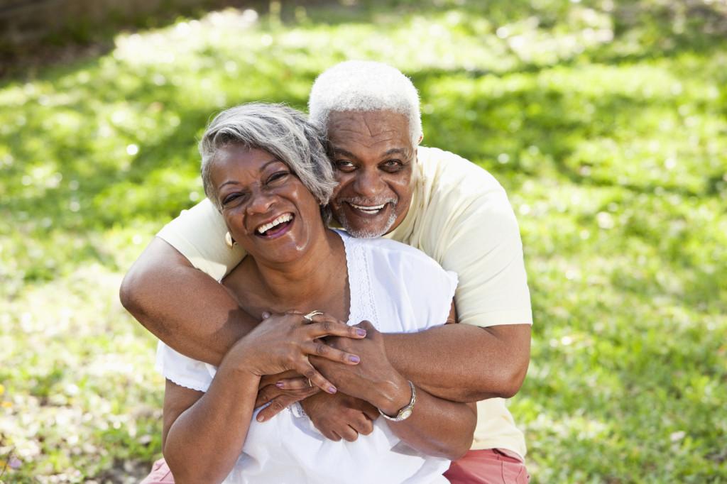 Portrait of senior African American couple