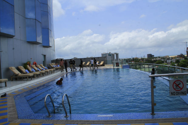 The Pool Side of the Hotel