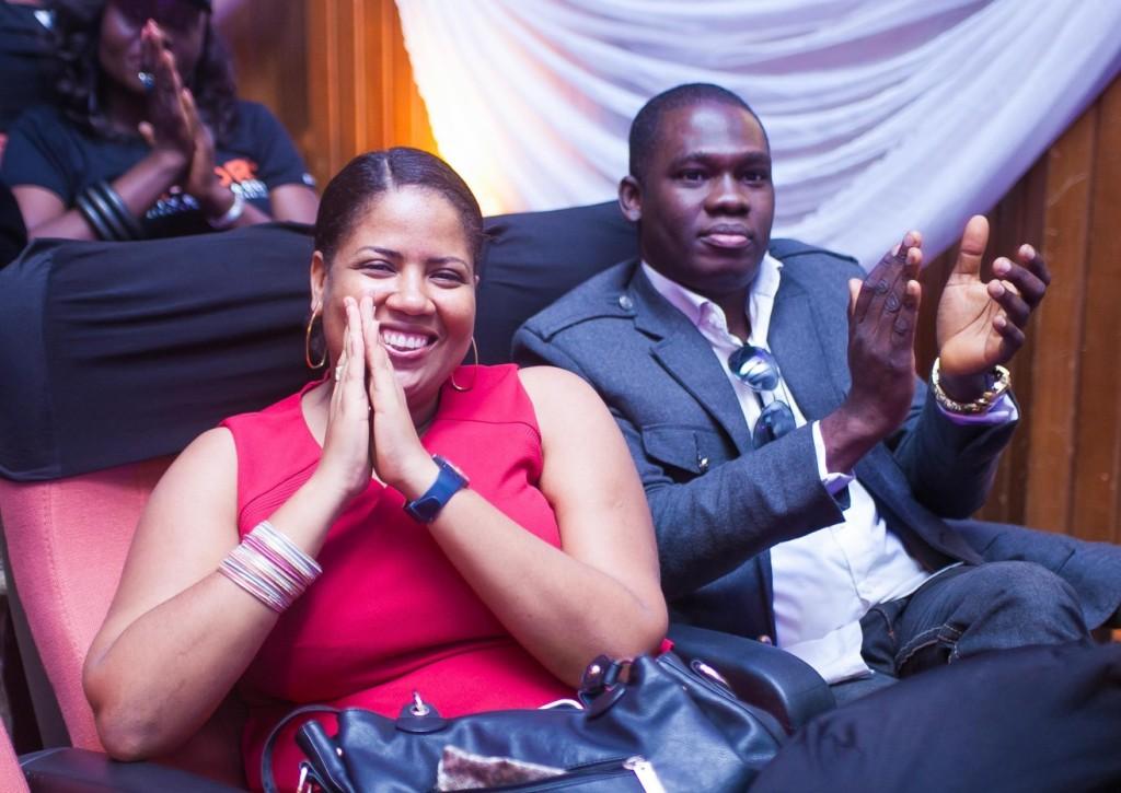 Ebele Enebeli & Deji Falope give a warm applause