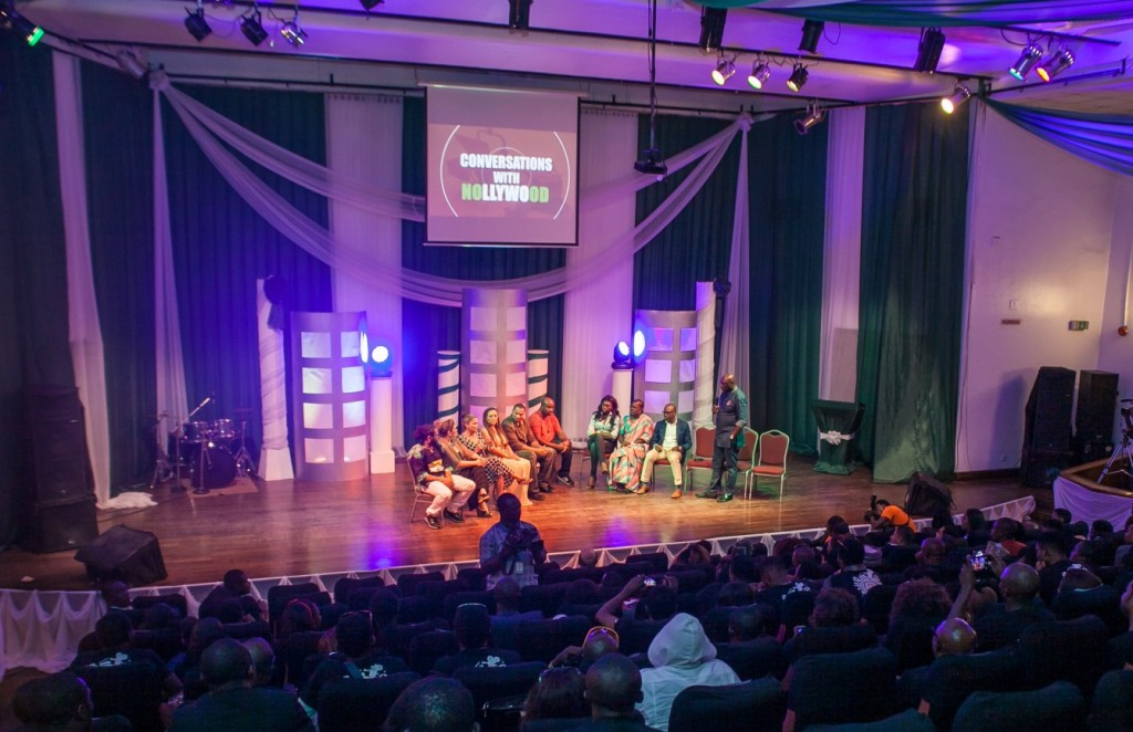 A view of the audience and panelists during the 'Conversations with Nollywood' session