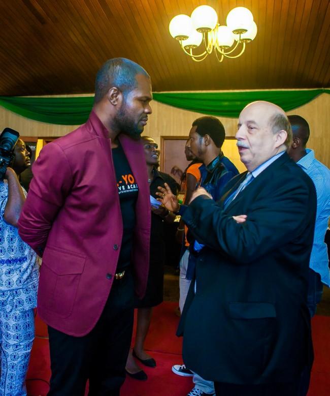 Linus Idahosa & the Consular General of France to Nigeria Francois Sastourne