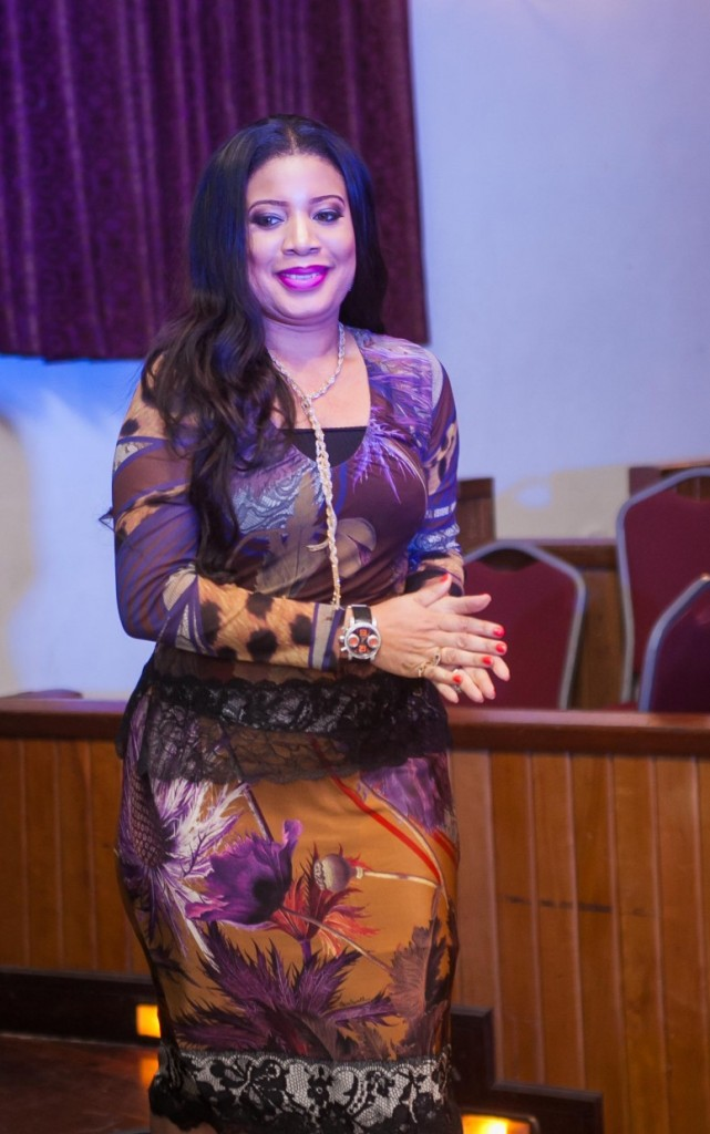 Monalisa Chinda makes her way to the stage