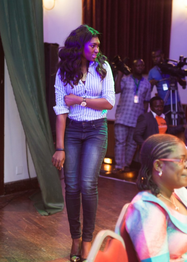 Ufuoma Ejenobor-McDermott makes her way to the stage