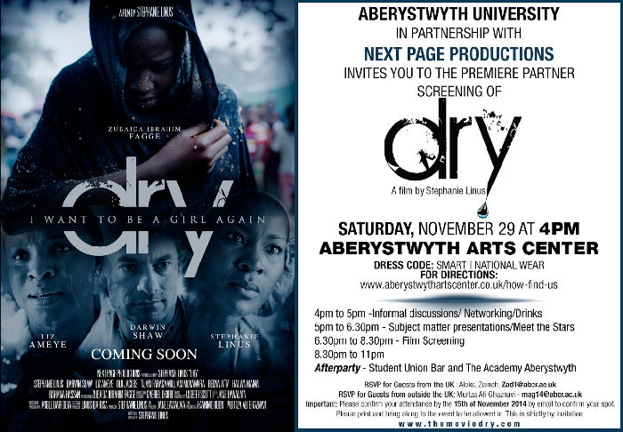 dry movie private premiere partners screening in wales uk