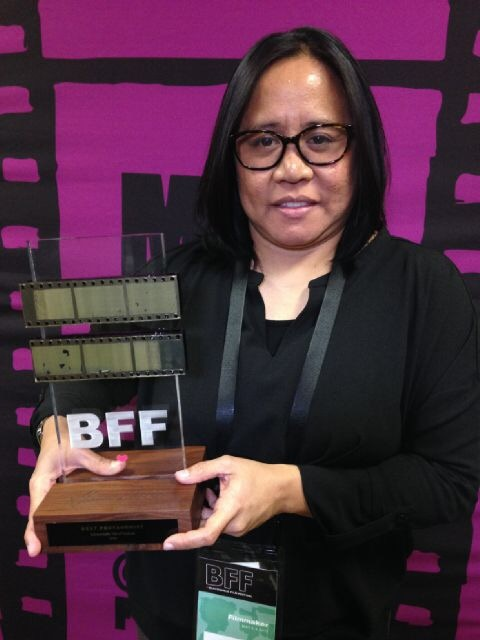 I couldn't get to attend, but glady, the film's co-producer/editor Jane Lawalata picked up the award.