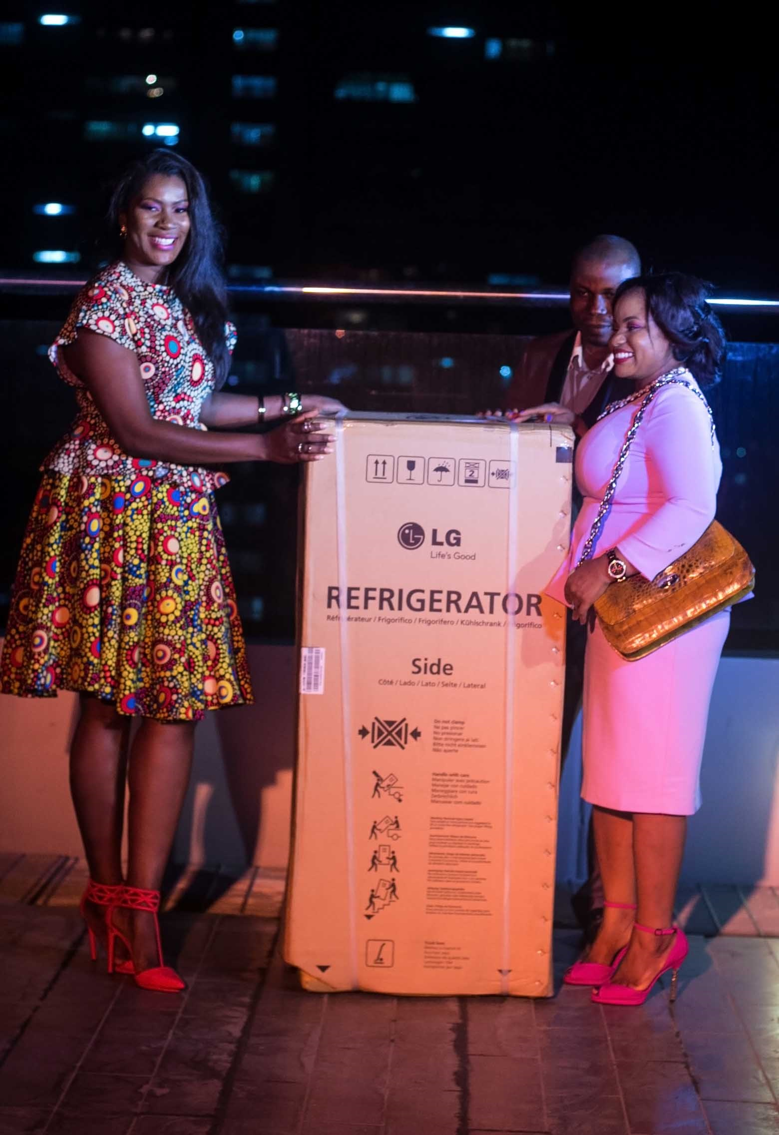 Many thanks to our sponsors, LG Nigeria, for the Refrigerator. They loved it!
