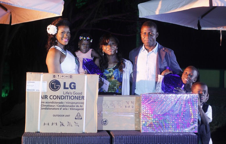 A mosquito repellent Air Conditioner from LG, a N50,000 gift card from Maxx and some gifts for the kids!