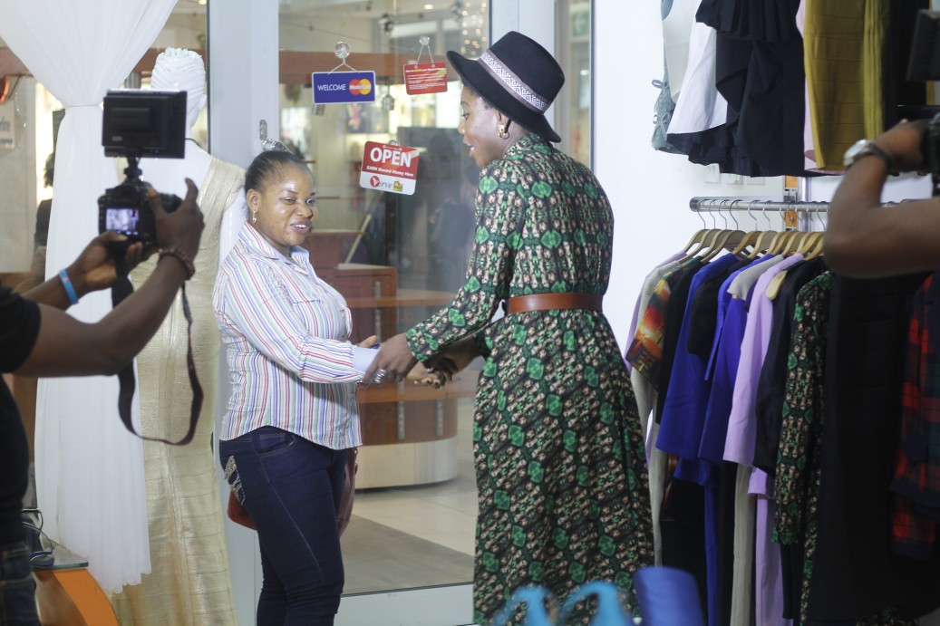 For a lovely transformation, we had to pick the perfect dress. Celebrity Stylist Yummie met up with Immaculate at the Mobos Fashion store to help her make the best choice.