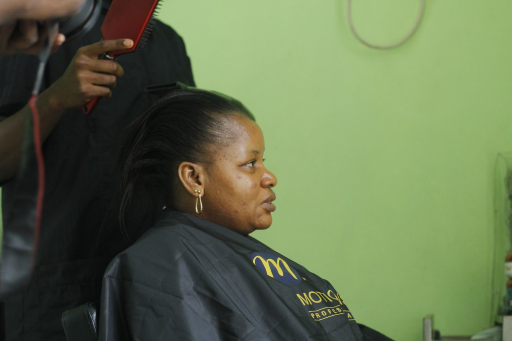We had a stellar team work on Immaculate's beauty transformation. For her hair, our sponsors at the Manetain Hair Salon did their thing.
