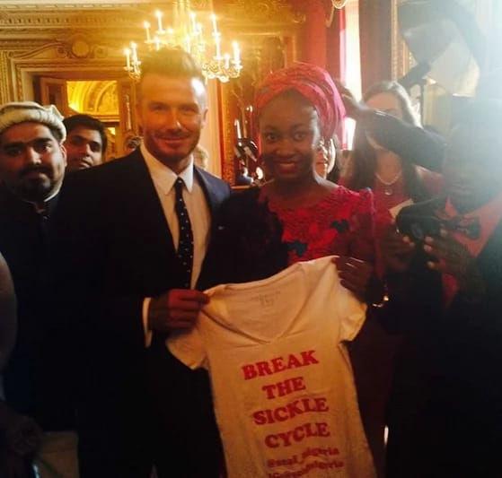 Nkechi Azinge & David Beckham