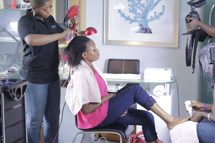 Next, the lovely team at Talise Salon & Hamam fixed up Becky's hair.