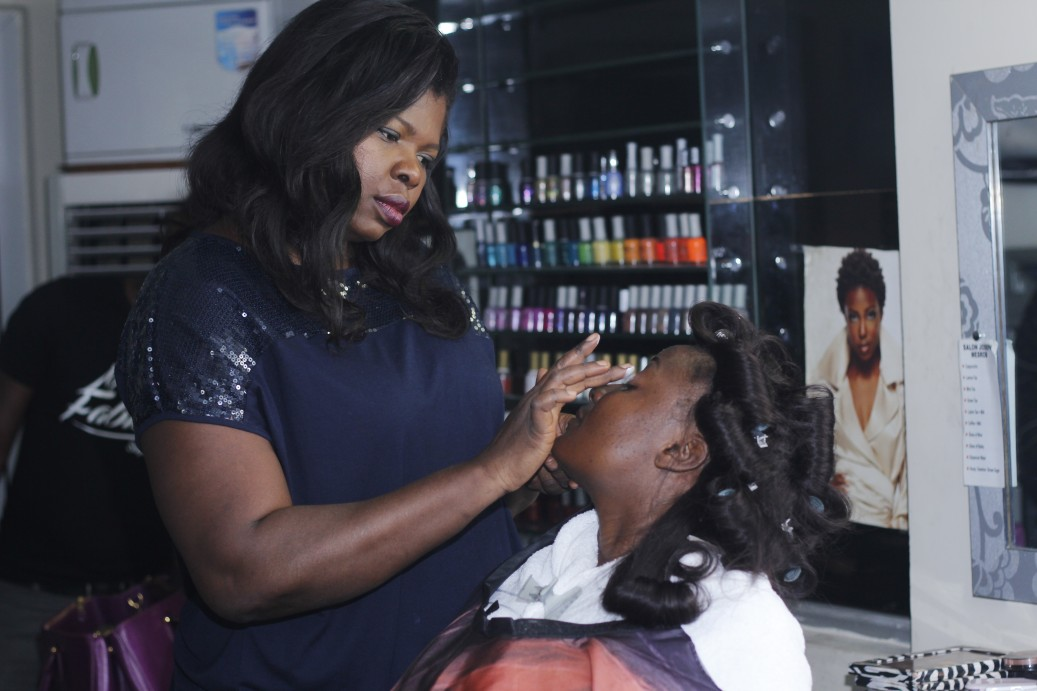 Of course, a fab makeover was necessary too. Bimpe Onakoya worked her magic on Folashade's face.