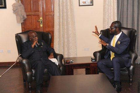 Linus Idahosa and President Kenneth Kaunda