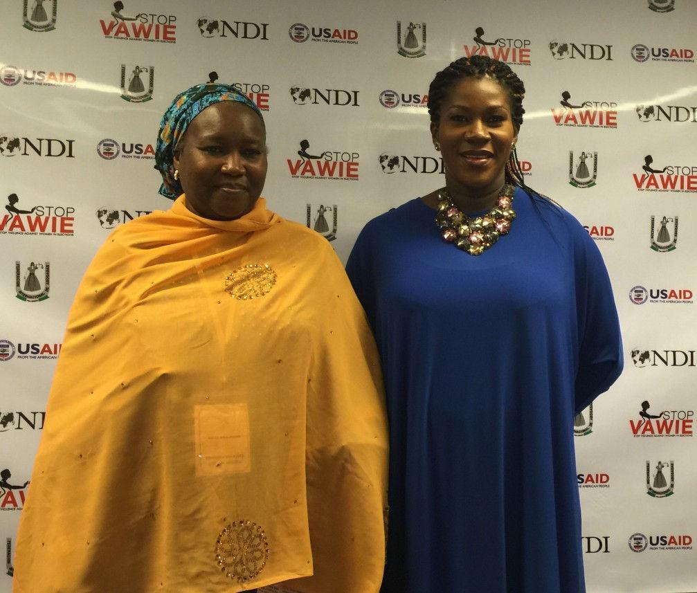 Stephanie Linus & the Acting INEC Chairman Hajiya Amina Zakari