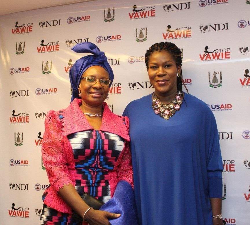 Stephanie Linus & the former Deputy Governor of Plateau state Mrs Pauline Tallen