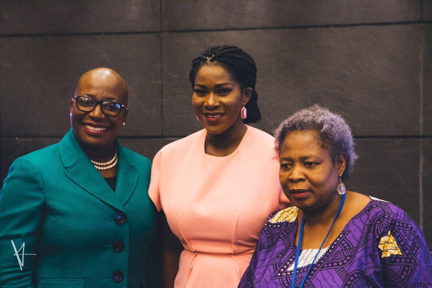Gale Rigobert, Deputy Leader of United Workers Party, Saint Lucia; Stephanie Linus & Ene Ede, Gender Advisor, Search for Common Ground