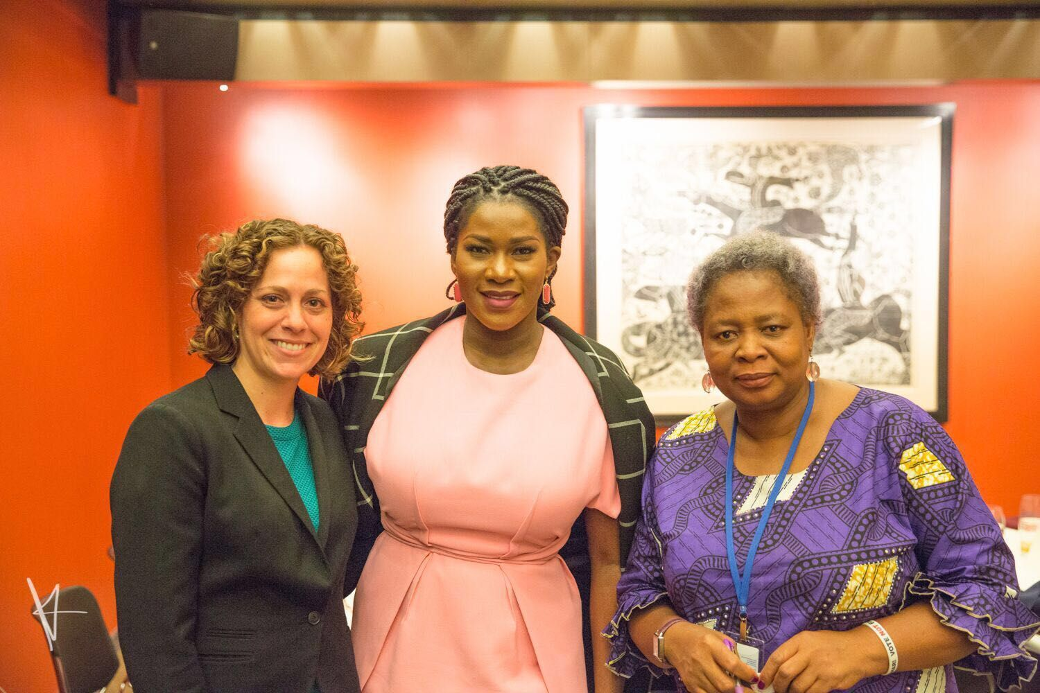 Caroline Hubbard, Senior Program Manager, Gender Women & Democracy NDI, Stephanie Linus & Ene Ede, Gender Advisor, Search for Common Ground