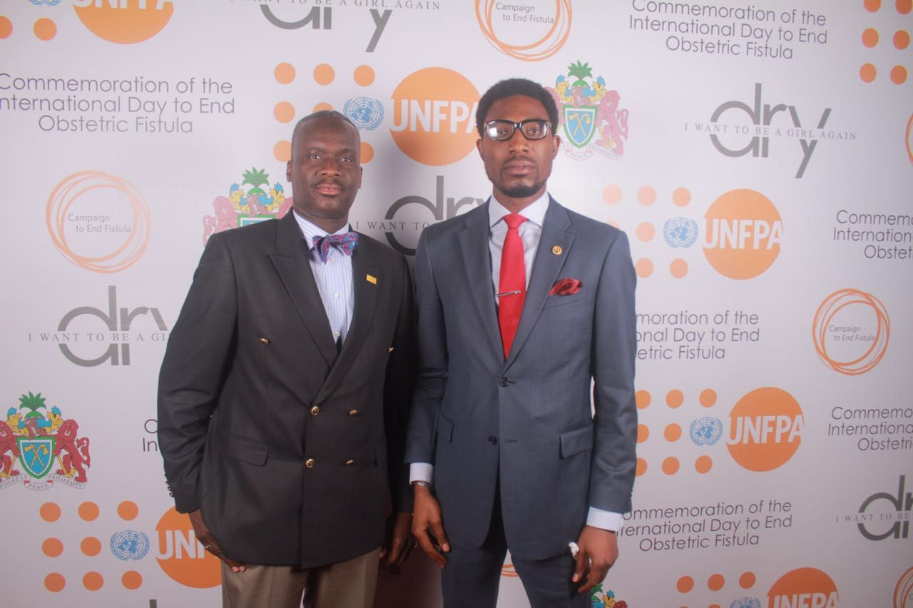 Chief, Non Core Funds, UNFPA, Demola Olajide & Head of Office, UNFPA Gambia, Kunle Adeniyi