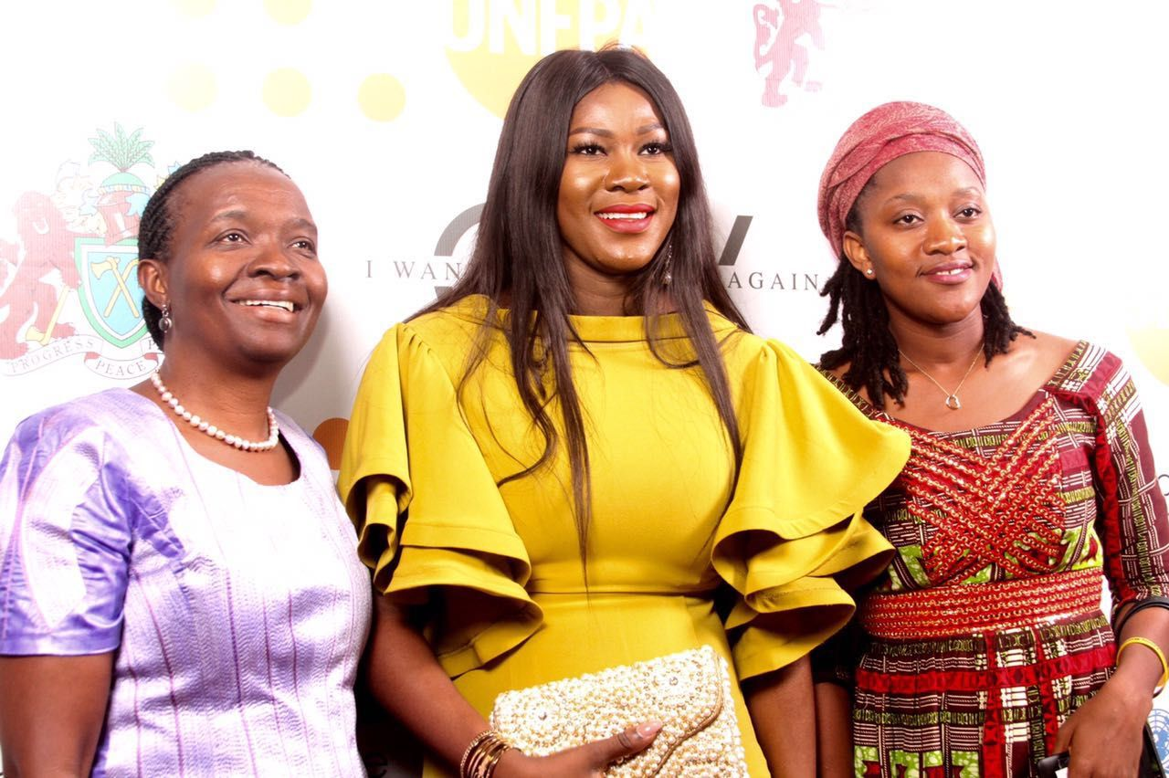 Mrs Victoria Ginja, Resident Rep. of the World Food Programme in The Gambia, Stephanie Linus & Ms. Kula Fonfana, Assistant Youth Minister, Liberia