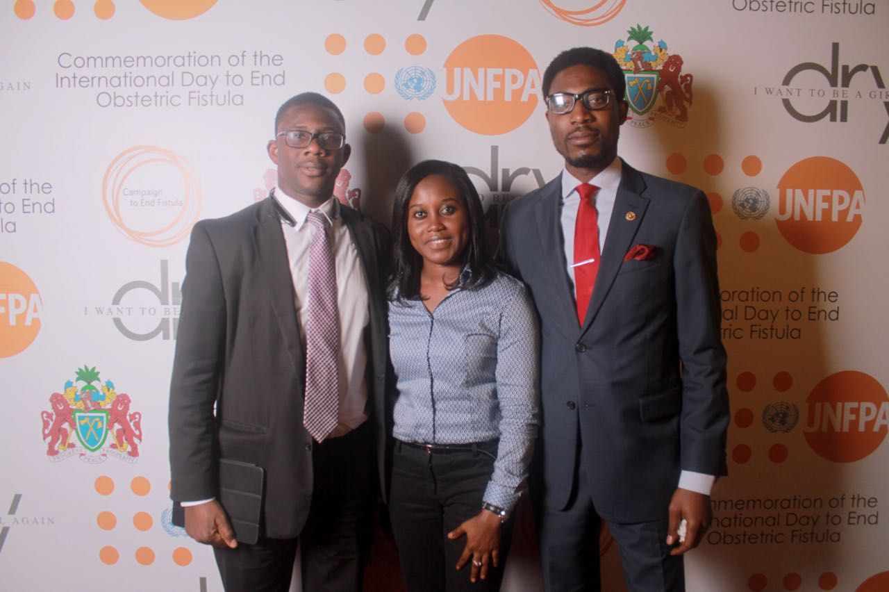 SA to the Executive Director, UNFPA, Niyi Ojuolape; Cecilia Senghore of UNDP & Kunle Adeniyi