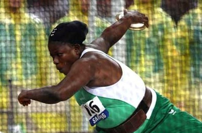 Eucharia Iyiazi brought Team Nigeria's medal tally with a Bronze medal in the women's F56/57 shot put.