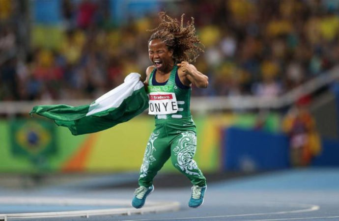 Lauritta Onye, a Nollywood actress who is also known as Laury White threw a shot put 8.40m, winning not only a gold medal but breaking a world record.