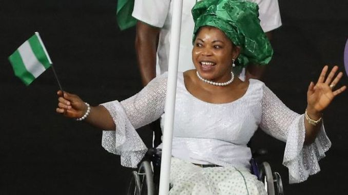 The Captain of Team Nigeria is leading by example and has won a gold medal in Power-lifting 61kg. Lucy who is representing Nigeria for the 5th successive time at the Paralympics has shattered the world record three times over.