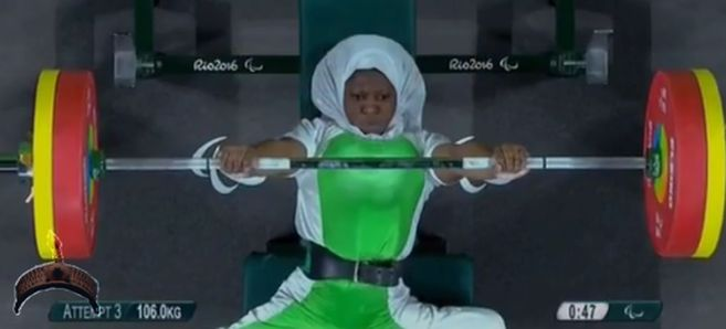 Nigeria's Latifat Tijani has won the country's first medal at the ongoing Rio 2016 Paralympic Games. She won silver in the women's 45kg powerlifting event.
