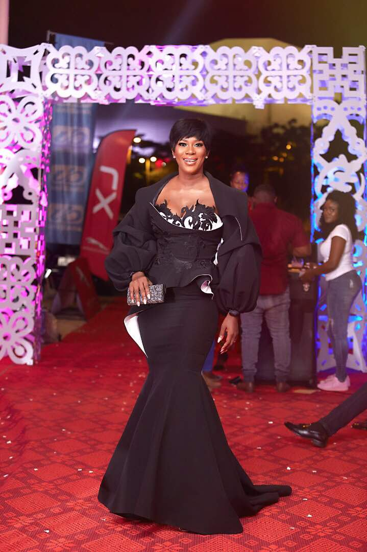 stephanie, Photos: Nollywood charming Stephanie Linus dazzles in Awards in Ghana