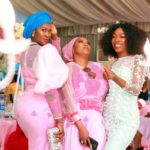 Stephanie Linus with friends at her younger sister's wedding